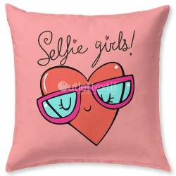 SELFIE 2 Fabrics Cushion Cover JVR
