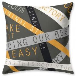 URBAN Cushion Cover 2 Fabrics JVR